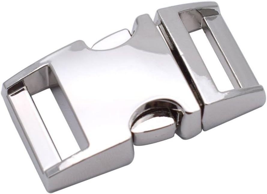 "50 100 Pcs 5//8/"" 15mm Webbing Strap Side Release Curved Buckle Paracord Bracelet"
