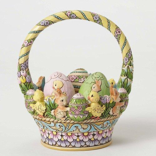 Jim Shore HWC by Enesco 12th Anniversary Easter Basket w/3 Eggs