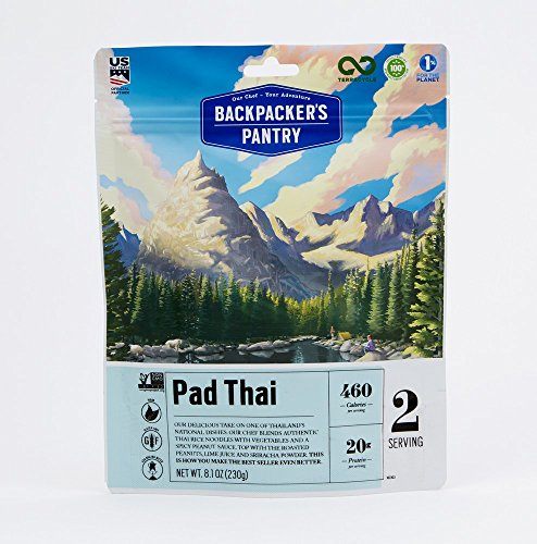 Backpacker's Pantry Pad Thai, Two Serving Pouch, (Packaging May Vary)​ (Pantry Backpackers)
