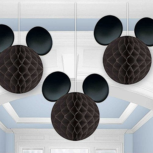 Mickey Mouse Hanging Mouse Ears Party Decorations - Disney Mickey Party