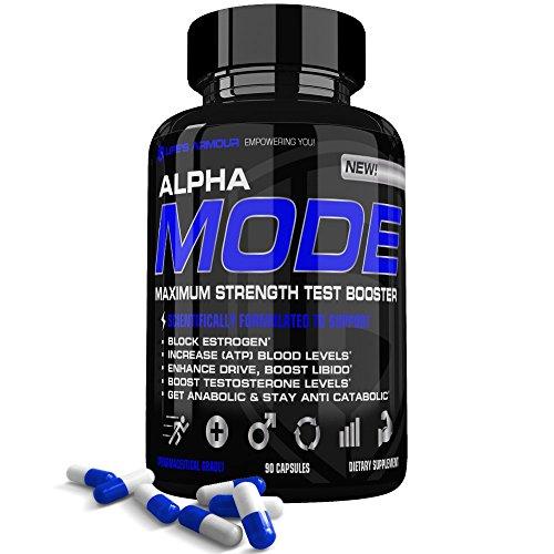 Test booster by Life's Armour Alpha Mode | All Natural Testosterone Booster Supplement, Estrogen Blocker, & Libido Enhancer with Tribulus Terrestris, Long Jack. Boost Testosterone Levels
