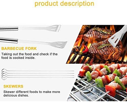 LLXLJ Outils Barbecue 18 PCS BBQ en Acier Inoxydable Grill Outils Set Ensemble Complet Barbecue Grill Ustensiles avec Sac De Rangement Cadeau pour Papa Homme