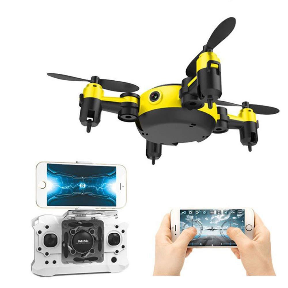 ERKEJI Drohne Mini-Drohne Faltbare Vier-Achs-Flugzeuge pneumatische Feste Höhe Spielzeug Flugzeuge, WiFi Luftbild VR
