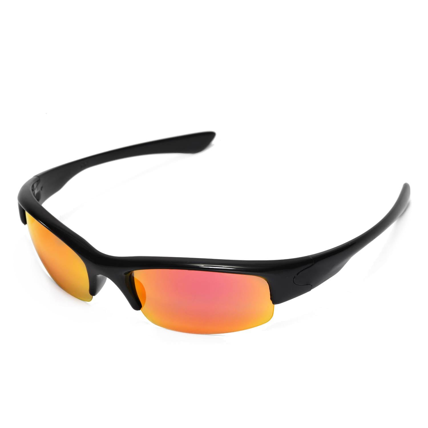 a75579e28d1 Walleva Replacement Lenses for Oakley Bottlecap Sunglasses -Multiple  Options Available (Fire Red Mirror Coated - Polarized) at Amazon Men s  Clothing store