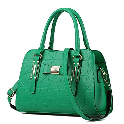WU ZHI Señora Medio Edad Madre Bolsa Salvaje Gran Capacidad PU Suave Bolso De Cuero Bolsa De Hombro Bolsa Messenger Bag Green