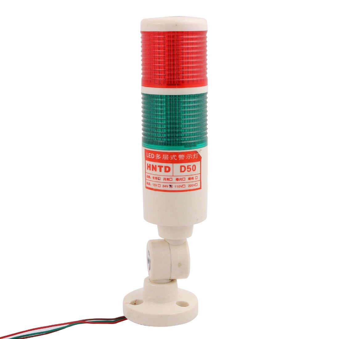uxcell DC 24V Red Green Tower Lamp Indicator Safety Industrial Signal Warning LED Light