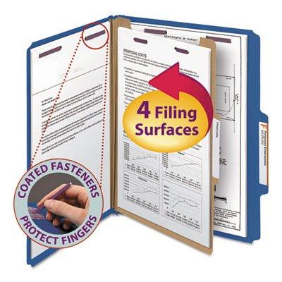 (Pressboard Classification Folders, Letter, Four-Section, Dark Blue, 10/Box, Sold as 10 Each)