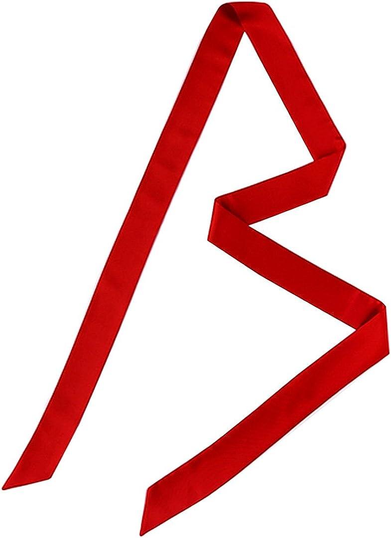 Monique Solid Color Long Narrow Silky Ribbon Scarf Neck Tie Scarf Choker Belt
