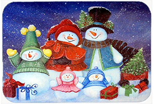 Treasures Snowman - Caroline's Treasures PJC1080CMT Merry Christmas from Us All Snowman Kitchen or Bath Mat, 20 by 30