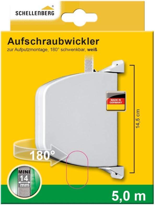 Schellenberg 50141 Enrollador atornillado Plegable Color marr/ón