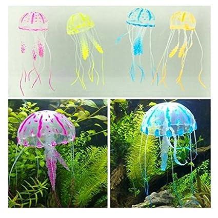 5 piezas de efecto Glowing diseño de medusas Artificial para acuario diseño de decoración para árbol
