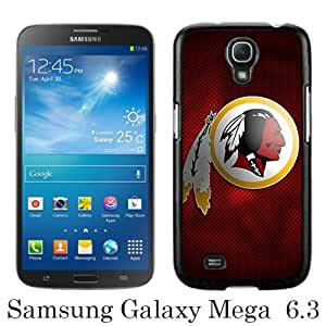 Samsung Galaxy Mega 6.3 I9200 Case ,Hot Sale And Popular Designed Samsung Galaxy Mega 6.3 I9200 Case With Washington Redskins 12 Black Hight Quality Cover