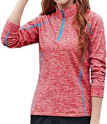 レディース トレッキング ウェア 吸汗 速乾 スポーツ 長袖 UV トレーニング ジョギング シャツ