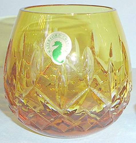 Waterford LISMORE Crystal Cased Yellow Votive Candle Holder New In Box