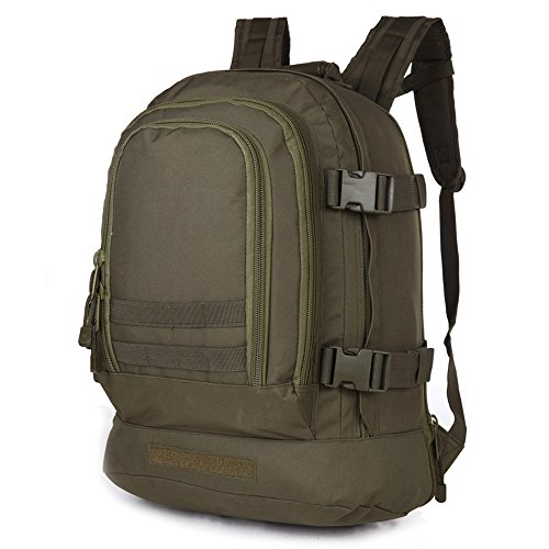 40L Outdoor Expandable Tactical Backpack Military Sport Camping Hiking Trekking Bag (OD Green 08002B)