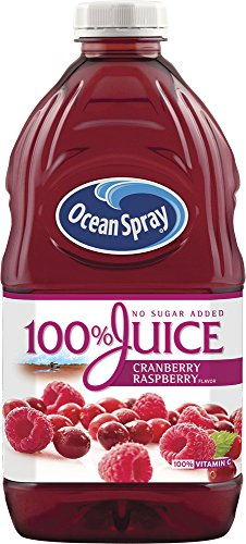 Ocean Spray 100% Juice Cranberry Raspberry, 60 Ounce Bottles (Pack of 8)