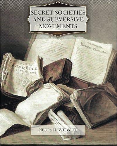 Book — SECRET SOCIETIES AND SUBVERSIVE MOVEMENTS