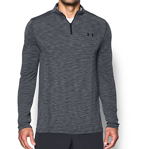 Under Armor Men's Threadborne Seamless ¼ Zip, Graphite/Black, X-Large