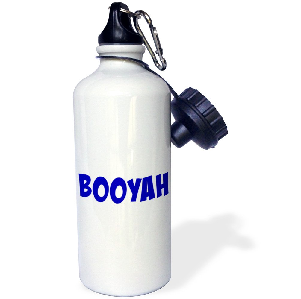 white background Sports Water Bottle 21 oz Multicolor 3dRose wb/_218486/_1BOOYAH