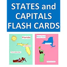 U.S. States and Capitals Flash Cards with Colorful Pictures of Each State (Beary Fun Learning Book 6)