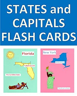 picture regarding States and Capitals Flash Cards Printable named US Says and Capitals Flash Playing cards with Vibrant Illustrations or photos of Each and every Nation (Beary Entertaining Studying Guide 6)