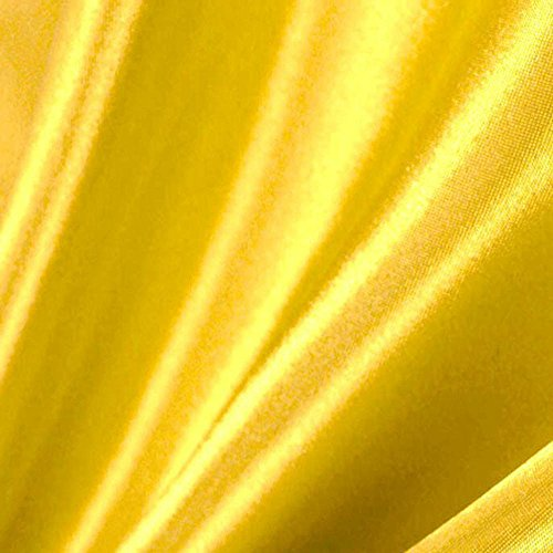 Yellow Satin Fabric 60