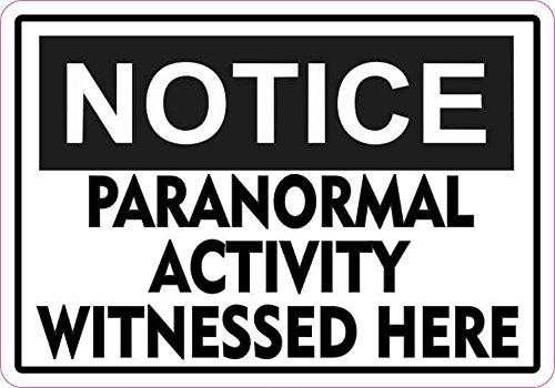StickerTalk 5in x 3.5in Notice Paranormal Activity Magnet Halloween Magnetic ()