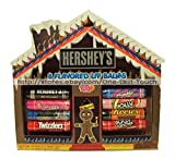 Hershey's Gingerbread House 8 Flavored Lip Balms Set: Hershey's Milk Chocolate, Bubble Yum Original, Hershey's Kisses, Twizzlers Strawberry, Bubble Yum Cotton Candy, Jolly Rancher Watermelon, Reese's Peanut Butter Cups, Jolly Rancher Cherry
