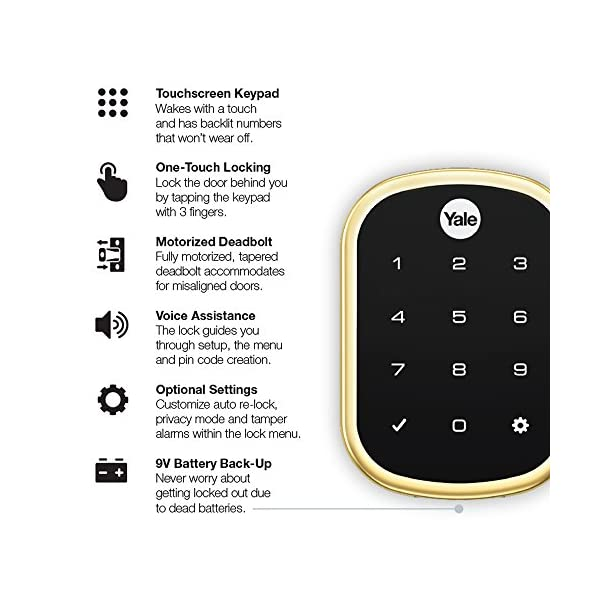 """Yale Assure Lock with Z-Wave - Smart Touchscreen Keypad Deadbolt (USA)""2020"""