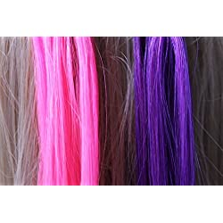 """18"""" Purple and Pink Micro Loop Ring Human Hair Extensions 20 Strands"""