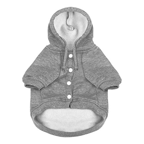 FakeFace Pet Clothes Dog Hooded Fleece Sweater Puppy Sporty Pullover Sweatshirt Cozy Cotton POLO Shirt Winter Warm Hoodies Jumpsuit Coat Jacket Apparel Costume Gift for Small Medium Dogs Cats ()