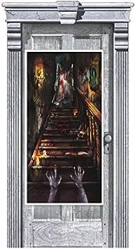 Amscan International – 241151 casa encantada Stairway Kit de decoración para puerta, 1,65 m x 85 cm: Amazon.es: Juguetes y juegos