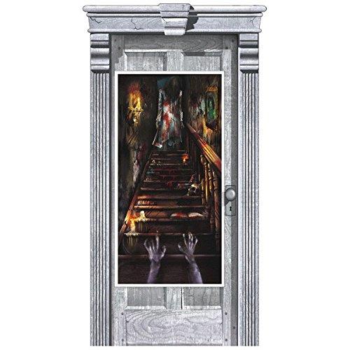 Haunted Mansion Door Cover | Halloween Decoration ()