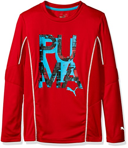 Price comparison product image PUMA Big Boys' Red P-U-M-a Letter Top, Fierce Red, Large (14/16)