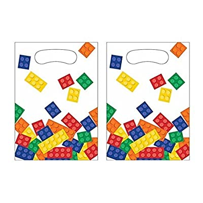 Creative Converting Building Blocks Plastic Favor Bags for (16 Guests): Toys & Games