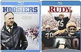 Rudy & Hoosiers Blu Ray Team 2 Pack Sport Drama Movie Football + Basketball Set