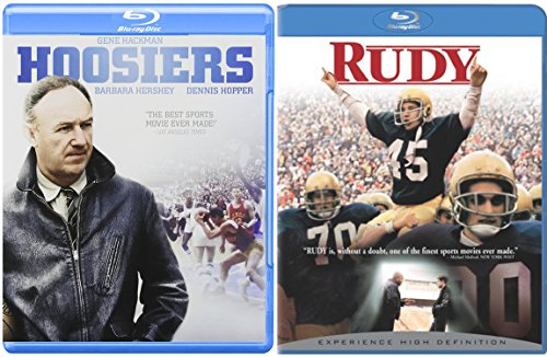 Rudy & Hoosiers Blu Ray Team 2 Pack Sport Drama Movie Football + Basketball Set