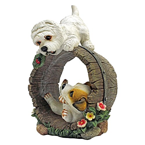 Puppy Dog Statue (Design Toscano Playful Puppy Dogs Statue, Multicolored)