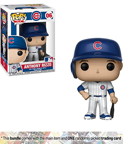 Funko Anthony Rizzo [Chicago Cubs]: x POP! MLB Vinyl Figure + 1 Official MLB Trading Card Bundle [#006 / 30232] by Funko