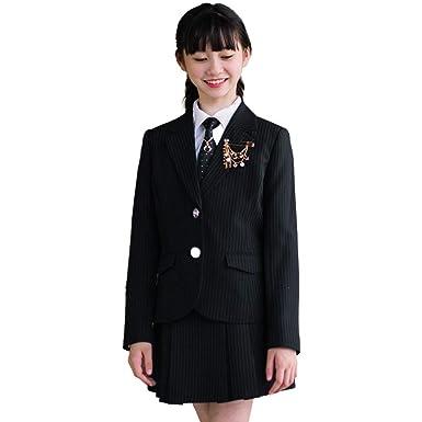 f05ae99c58786 卒業式 小学生 女の子 スーツ 子供服 卒服 6点セット 発表会 結婚式