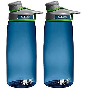 CamelBak Chute 1L Water Bottle Bluegrass (2-Pack)