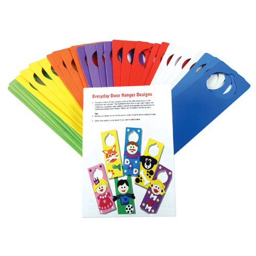 Creation Station Class Craft Foam Door Hangers with Ideas Leaflet, 6 Assorted Colours by Creation Station ()