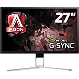 Monitor LED Gamer Agon, 144Hz, 4MD, HDMI, Display Port, USB, G-Sync, QHD, AOC, AG271QG, 27""