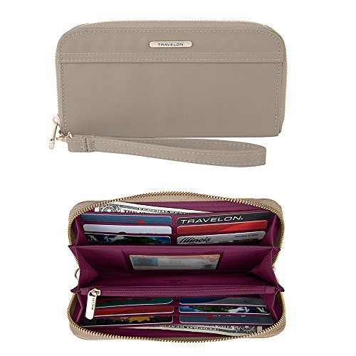 (Travelon Women's Tailored Clutch Wallet, Sable)