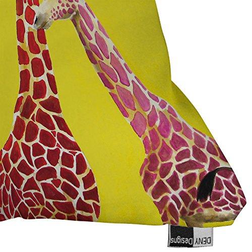 Deny Designs Clara Nilles Jellybean Giraffes Outdoor Throw Pillow, 18 x 18