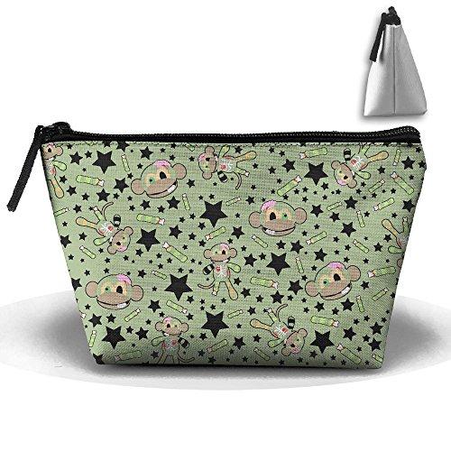 Travel Cosmetic Bags Monkey Rag Doll Small Makeup Bag Multifunction Pouch Cosmetic Handbag Toiletries Organizer Bag for Women -