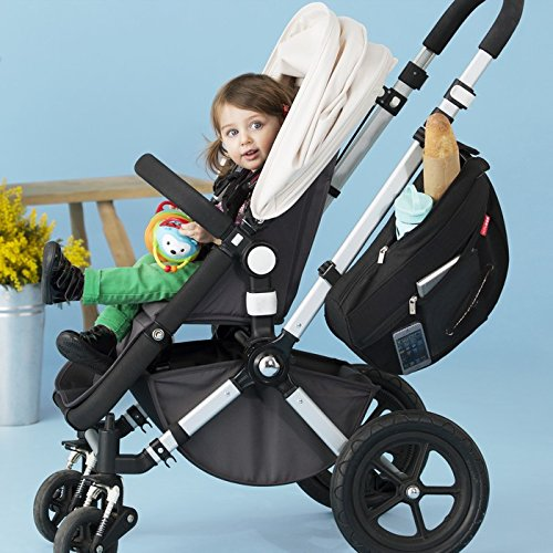 Skip Hop Grab and Go Attachable and Insulated Side Sling Stroller Saddle Bag and Organizer, 2 Pockets, Black by Skip Hop (Image #6)