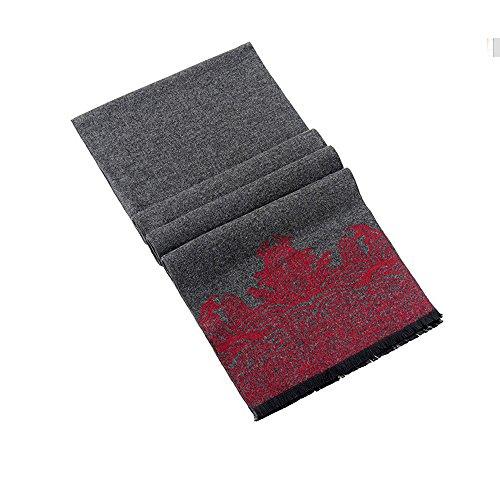Bufandas de los hombres Invierno Calentar bufanda Negocio Casual 180x30cm  Barato 7c88e562549