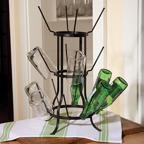 Unique Bottle Drying Rack for Glasses or Cups