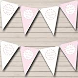 Girl Pink And White Welcome Home New Baby Bunting Banner Garland